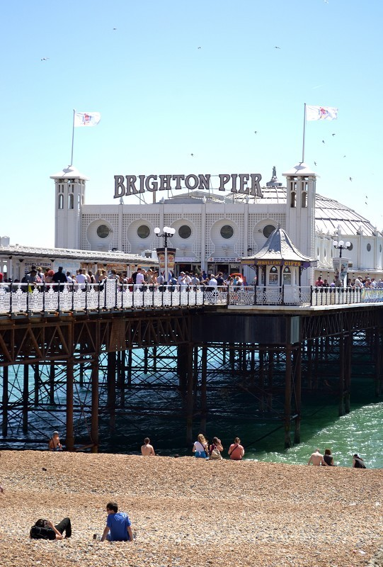 Beach Pier Home Decor For Living Room: Brighton Pier And Beach, Brighton, East Sussex