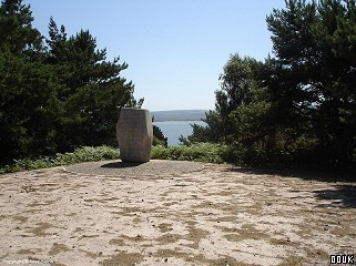 Monument commemorating the first Boy Scout camp on Brownsea Island