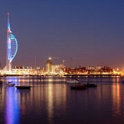 Emirates Spinnaker Tower at night
