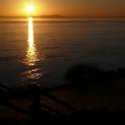 Sunset from Flat Holm Island