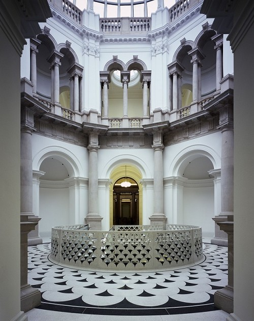 The central spiral staircase in the rotunda, Tate Britain - Courtesy Caruso St John and Tate (c) Hélène Binet