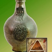 The Museum of Witchcraft - Bellermine Witch Bottle used for house protection >Images by John Hooper Hoopix / MoW<