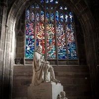 MANCHESTER CATHEDRAL INSTALLS NEW HOPE WINDOW