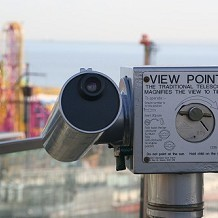Adventure Island - Telescope overlooking Adventure Island, formally Peter Pans Playground. by fuzzyfish