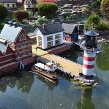 Bekonscot Model Village & Railway - Lighthouse & harbour at Bekonscot model village. by Londoner03