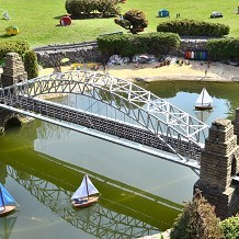 Bekonscot Model Village & Railway - Model bridge. Fantastic creations ! by Londoner03