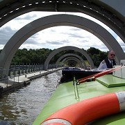 Falkirk Wheel from the top by Stuart
